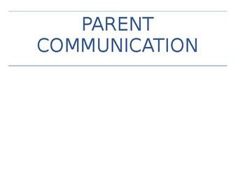 Parent Communication Packet for Danielson Domain 4c