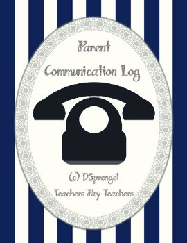 Parent Communication Phone Log (special education, counselors, self-contained)