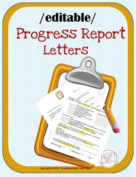 Parent Communication: Progress Report  Letter Home EDITABLE