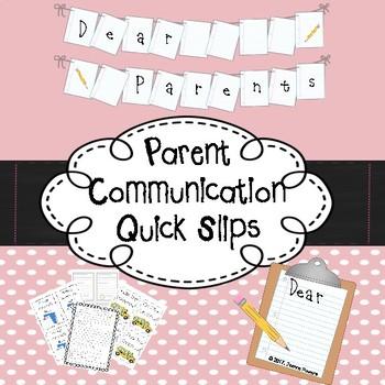 Parent Communication Quick Slips