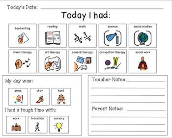 Parent Communication Sheet