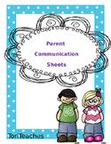 Parent Communication Sheets SALE!!!