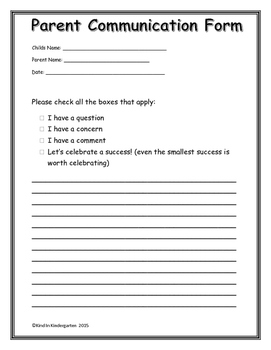 Parent Communication/ Student Behavior Forms