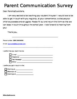 Parent Communication Survey