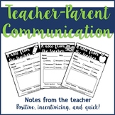 Parent Communication: Teacher Notes Home