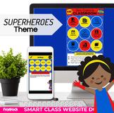 Parent Communication Template | Google Slides | Class Website | SUPERHEROES