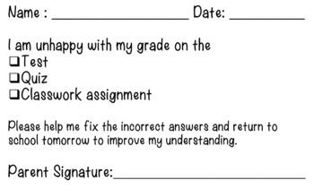 Parent Communication for Grades