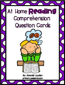 Parent Comprehension Question Cards First Grade