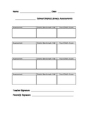 Parent Conference Assessment Form