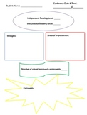 Parent Conference Cover Sheet