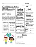 Parent Conference Data Sheet for Student Progress