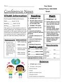 Parent Conference Data Sheet for Student Progress