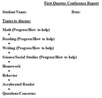 Parent Conference Documentation