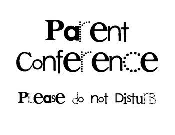 Parent Conference Door Sign