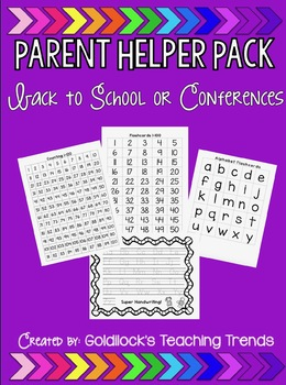 Parent Conference Extra Practice at Home