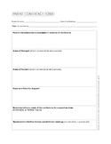 Parent Conference Form (1 page)
