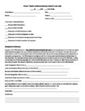 Parent Conference Form - 3 and 4 year olds