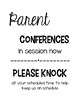Parent/Teacher Conference Form and Poster *FREE