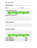 Parent Conference Form  BH2
