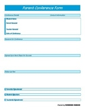 Parent Conference Form - Blue Generic - PP