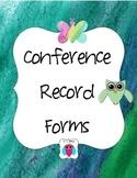 Parent Conference Form Freebie
