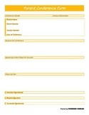 Parent Conference Form - Orange Generic - PP