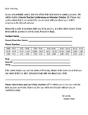 Parent Conference Form in English AND Spanish