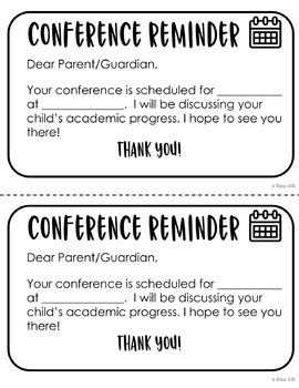 EDITABLE Parent Conference Forms (ENGLISH and SPANISH)