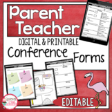 Parent Conference Forms For 1st Grade Free