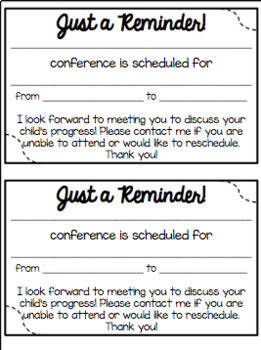 Parent Conference Forms