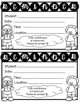 Parent Conference Forms Pack-English and Spanish