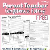 FREE Parent Teacher Conference Forms