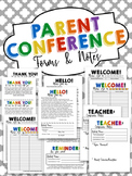 Parent Conference Forms & Notes