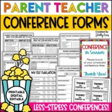 Parent Teacher Conference Forms for Parent Conferences EDITABLE