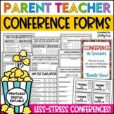 Parent Teacher Conference Forms for Parent Conferences EDITABLE