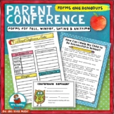 Parent Conference Forms | With HandOuts | Conference Reminder Note