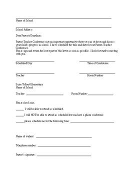 Parent Conference Invitation