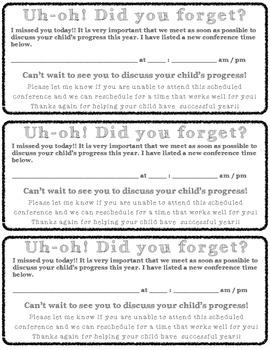 Parent Conference Invitation Forms