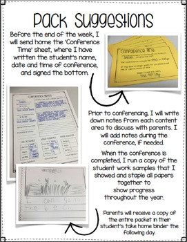 Parent Conference Notes
