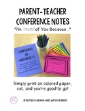 Parent Conference Notes