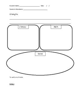 Parent Conference Notes Form