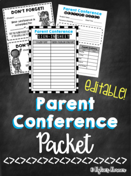 Parent Conference Packet {EDITABLE}