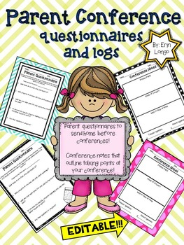 Parent Conference Questionnaire and Notes