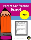 Parent Conference Record