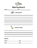 Parent Conference Record {FREEBIE}