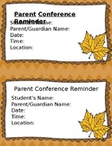 Parent Conference Reminder-Fall Theme