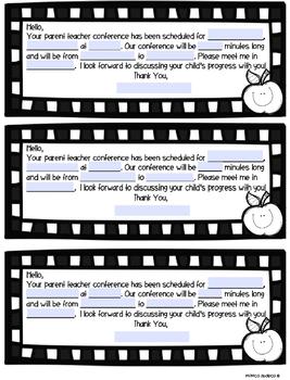 {FREEBIE} - Parent Conference Reminders
