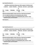 Parent Conference Request Form 2 Per Page