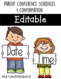 Parent Conference Schedule Form EDITABLE