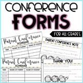 EDITABLE Parent-Teacher Conference Forms and Sign-in Sheets (English & Spanish)